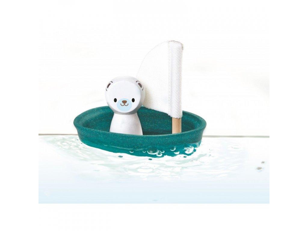 Plachetnice s ledním medvědem PLAN TOYS