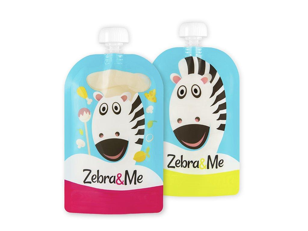 Kapsička na dětskou stravu Zebra& Me 2 ks Kuchař-Zebra