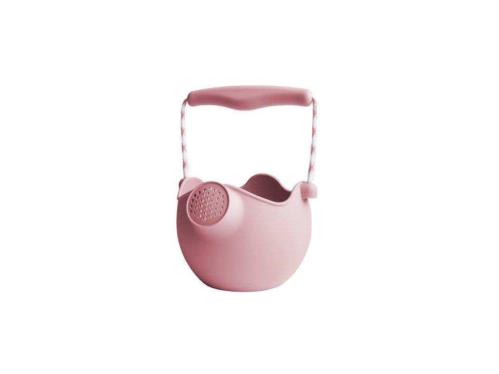 Scrunch silikonová konvička růžová