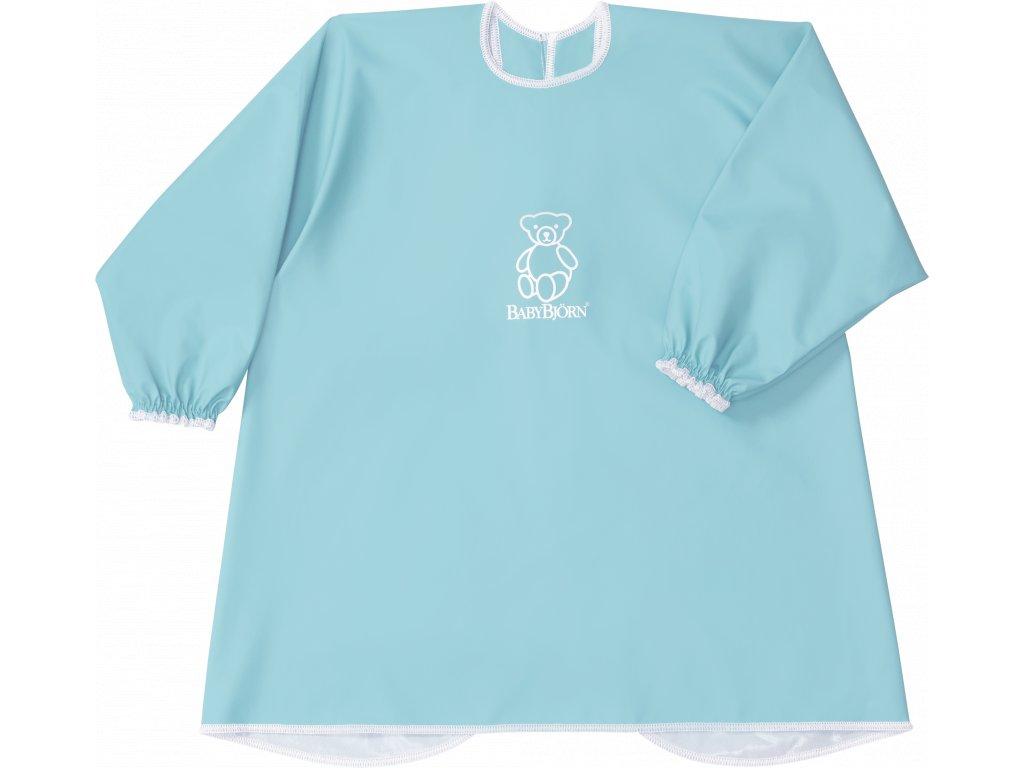 Zástěrka BabyBjörn na krmení a hraní Smock Turquoise