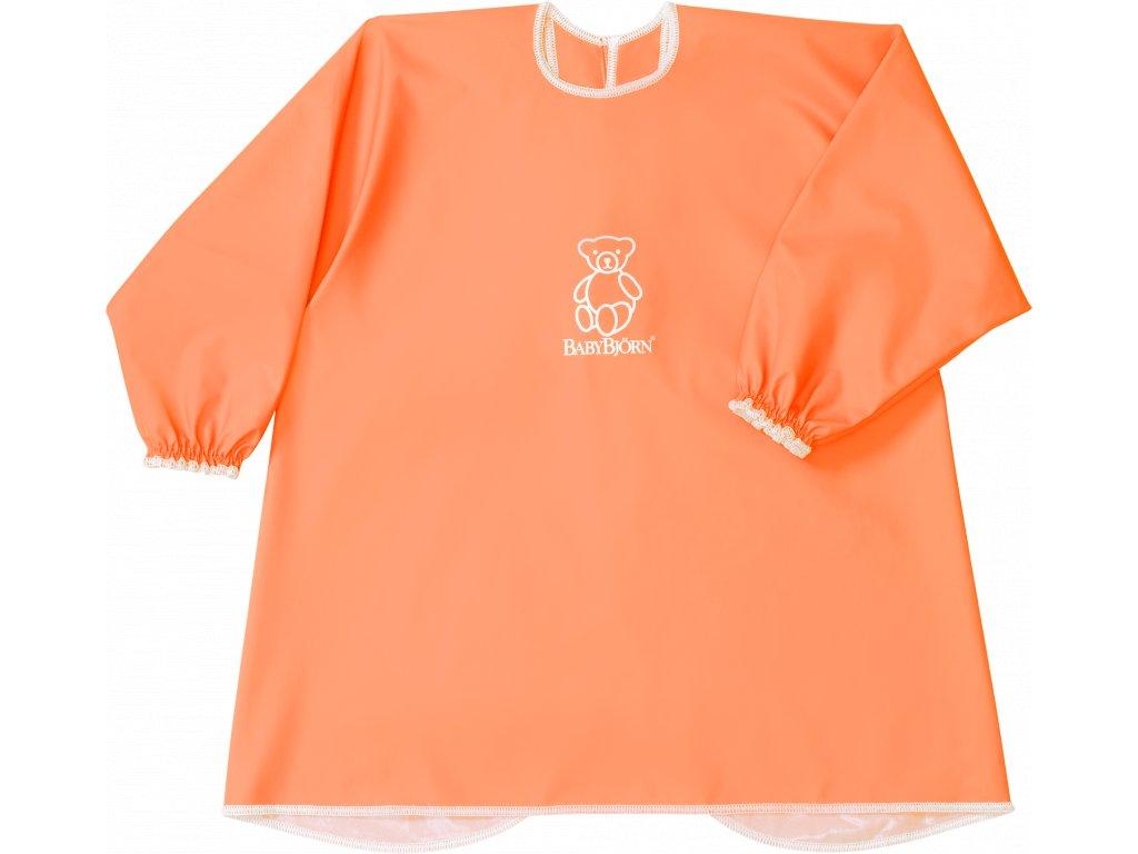 Zástěrka BabyBjörn na krmení a hraní Smock Orange