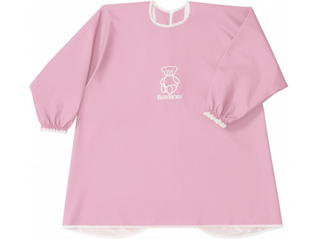Zástěrka BabyBjörn na krmení a hraní Smock Light Pink