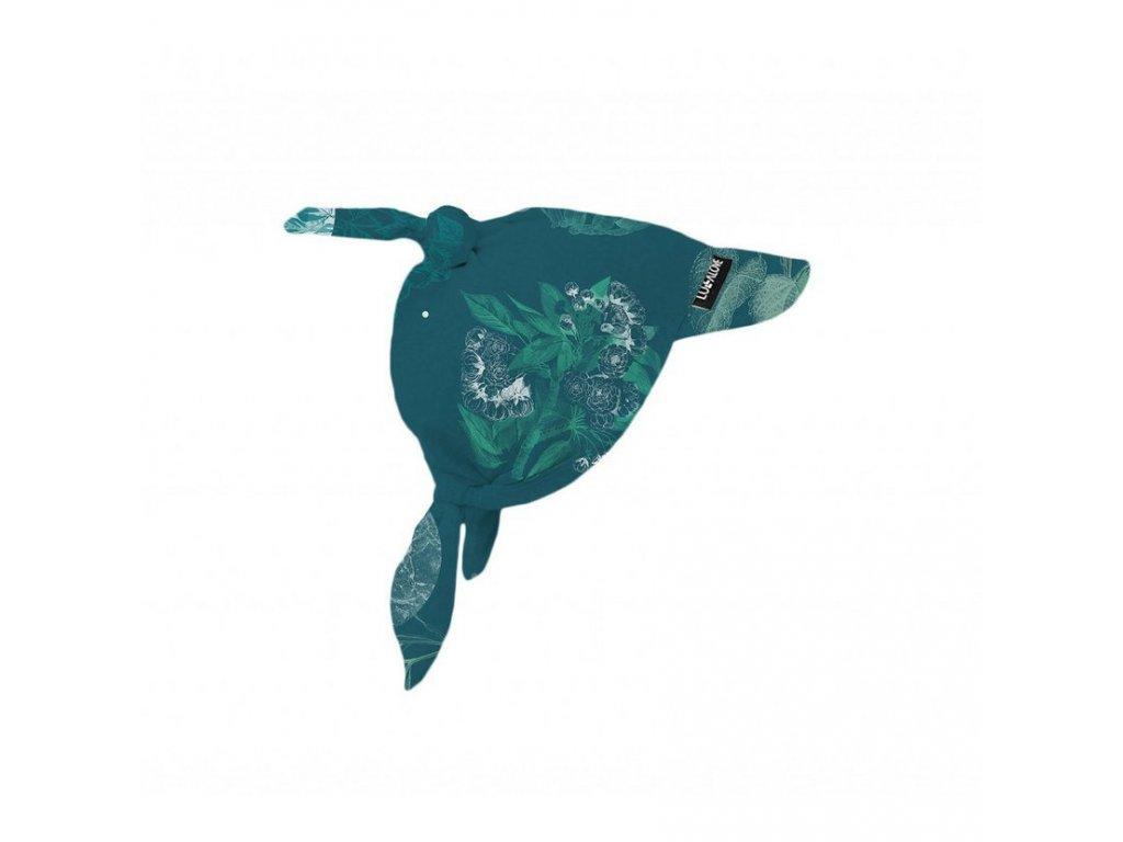 Bavlněný šátek na hlavu Moon Garden