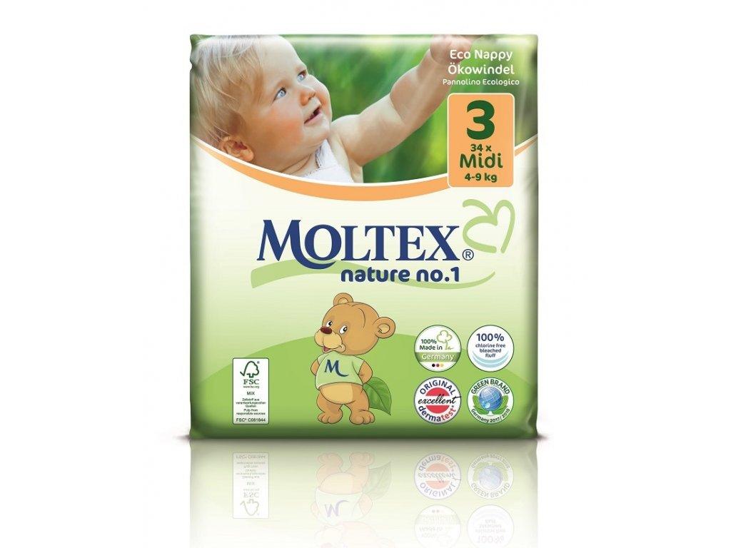 Plenky Moltex nature no.1 Midi 4-9 kg (34 ks)