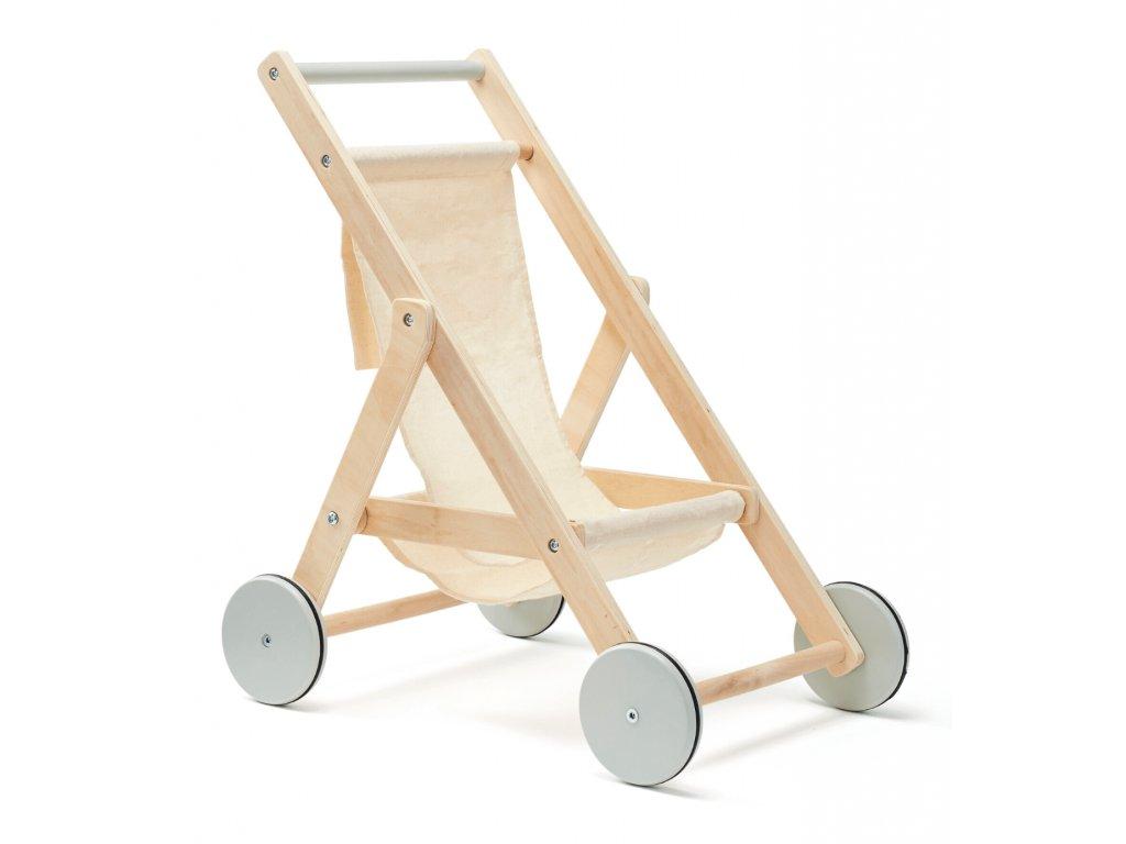 Kids Concept Kočárek pro panenky dřevěný