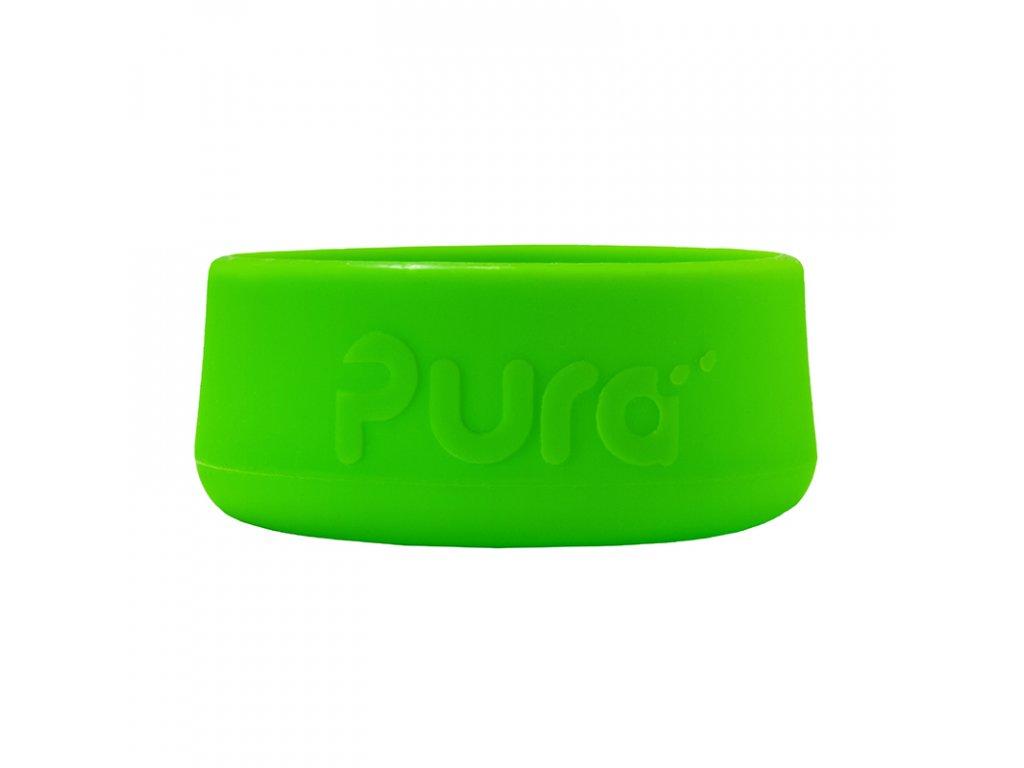 Silikonový chránič na lahev PURA zelený