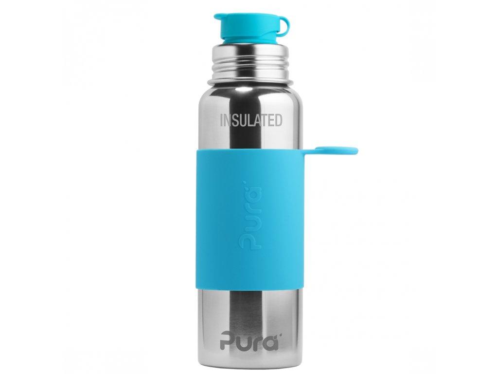 Nerezová TERMO lahev Pura se sportovním uzávěrem 650 ml modrá
