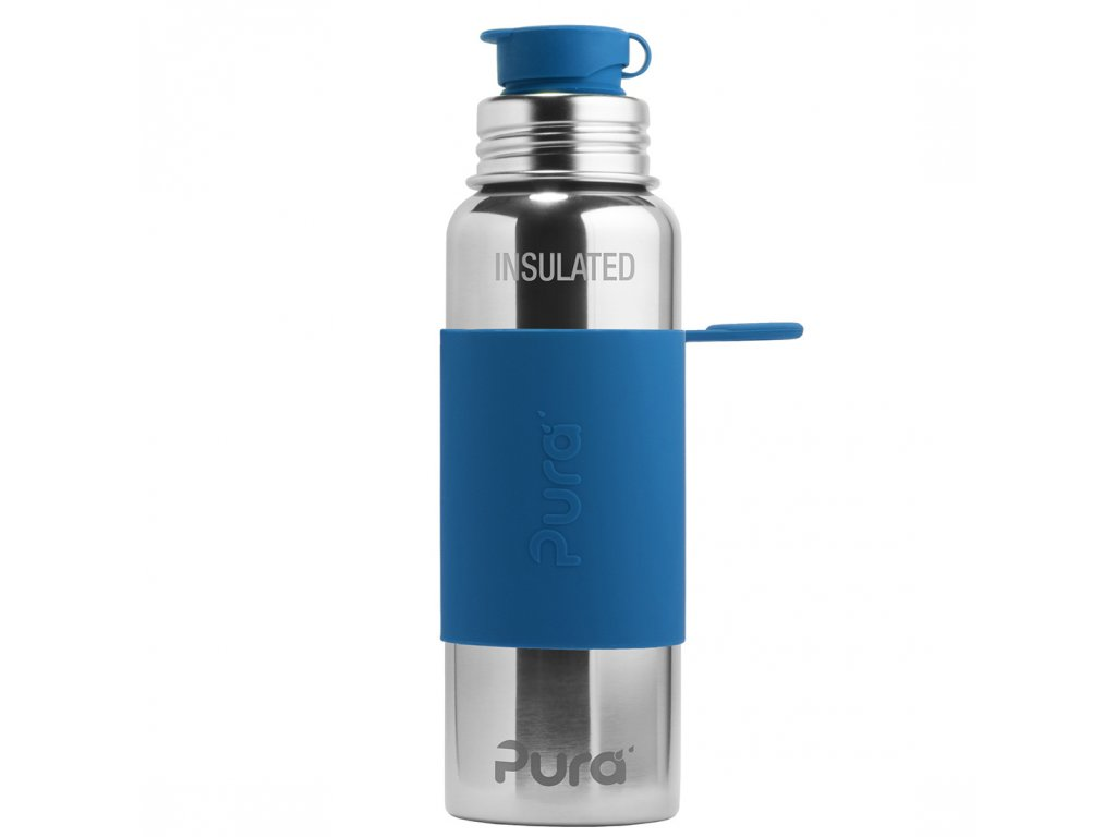 Nerezová TERMO lahev Pura se sportovním uzávěrem 650 ml tmavě modrá