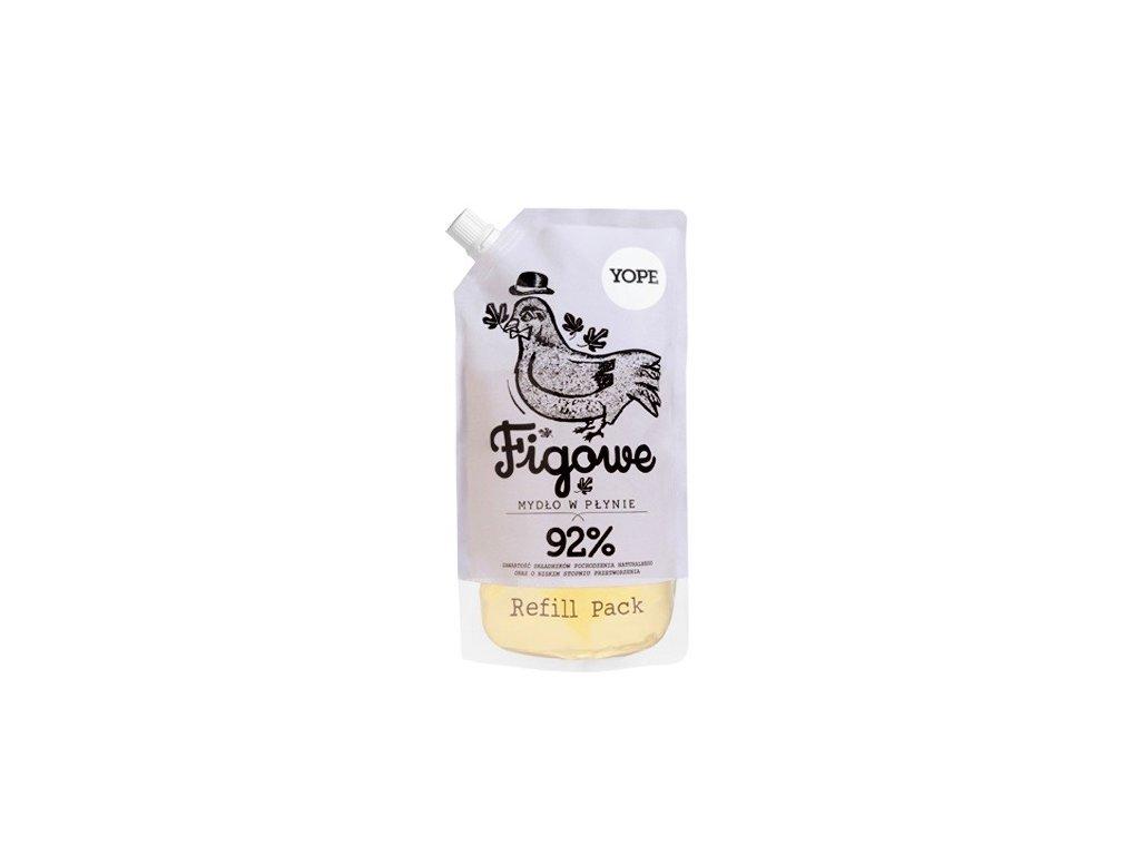 Tekuté koupelnové mýdlo YOPE s fíky - náhradní náplň 500 ml