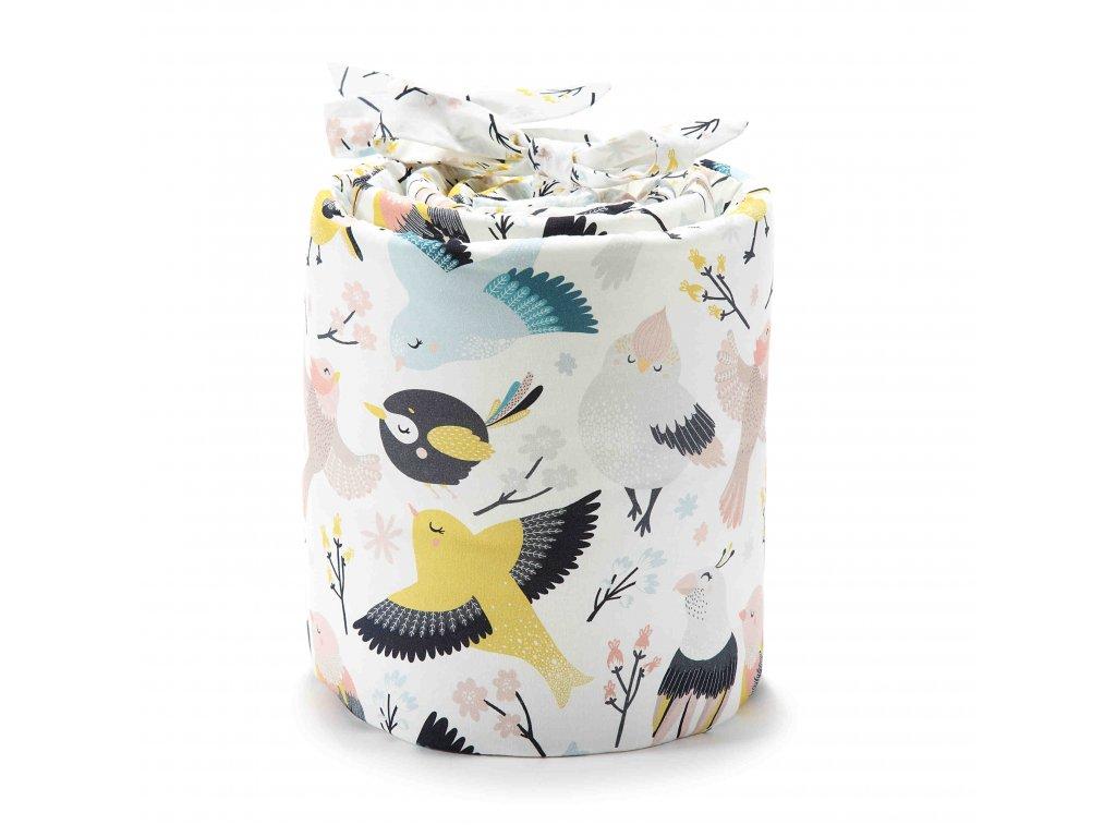 Ochranný mantinel do postýlky La Millou Cute Birds & Cute flowers