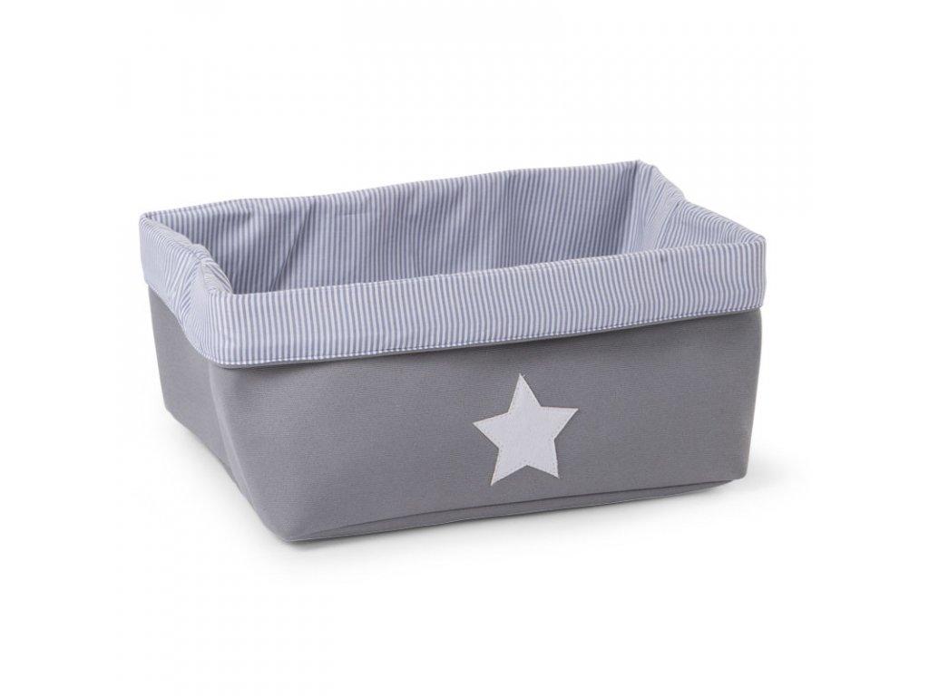"""Úložný box CHILDHOME Grey Strips nízký """"M"""""""