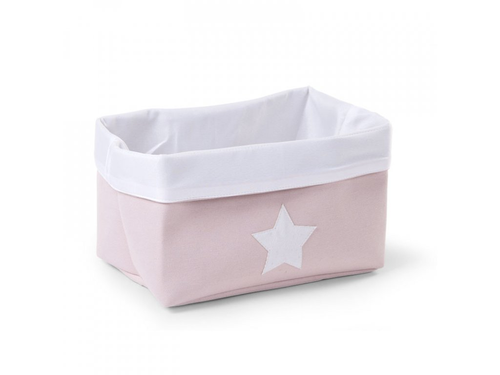 "Úložný box CHILDHOME Soft pink white ""S"""