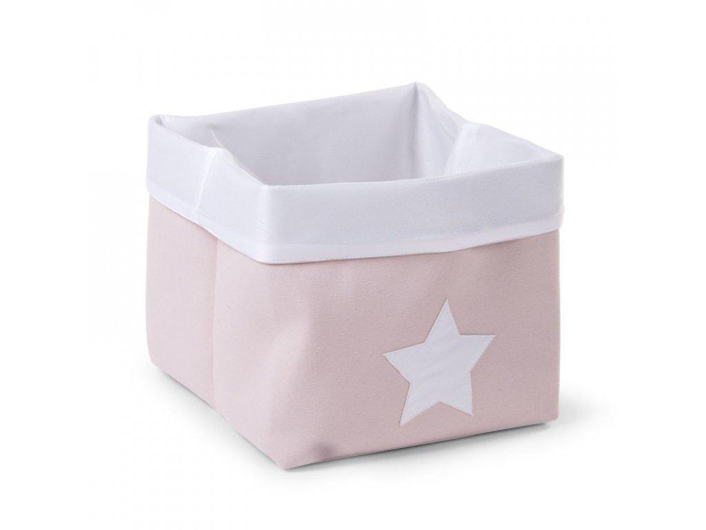 """Úložný box CHILDHOME Soft pink white vysoký """"M"""""""