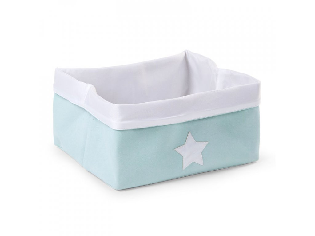 "Úložný box CHILDHOME Mint white nízký ""M"""