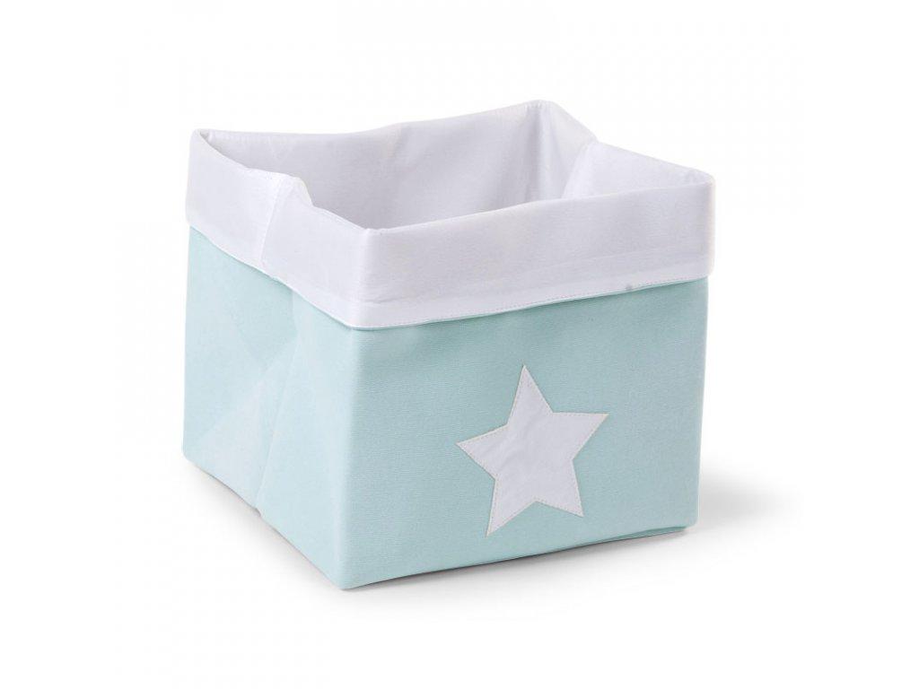 """Úložný box CHILDHOME Mint white vysoký """"M"""""""