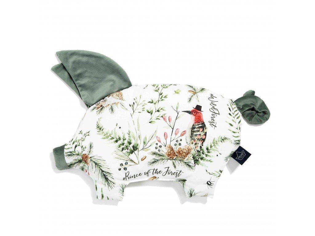 Polštářek La Millou Sleepy pig Khaki & Forest