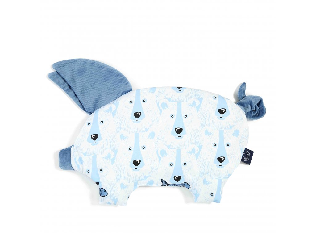 Polštářek La Millou Sleepy pig Denim & Arctic bear family