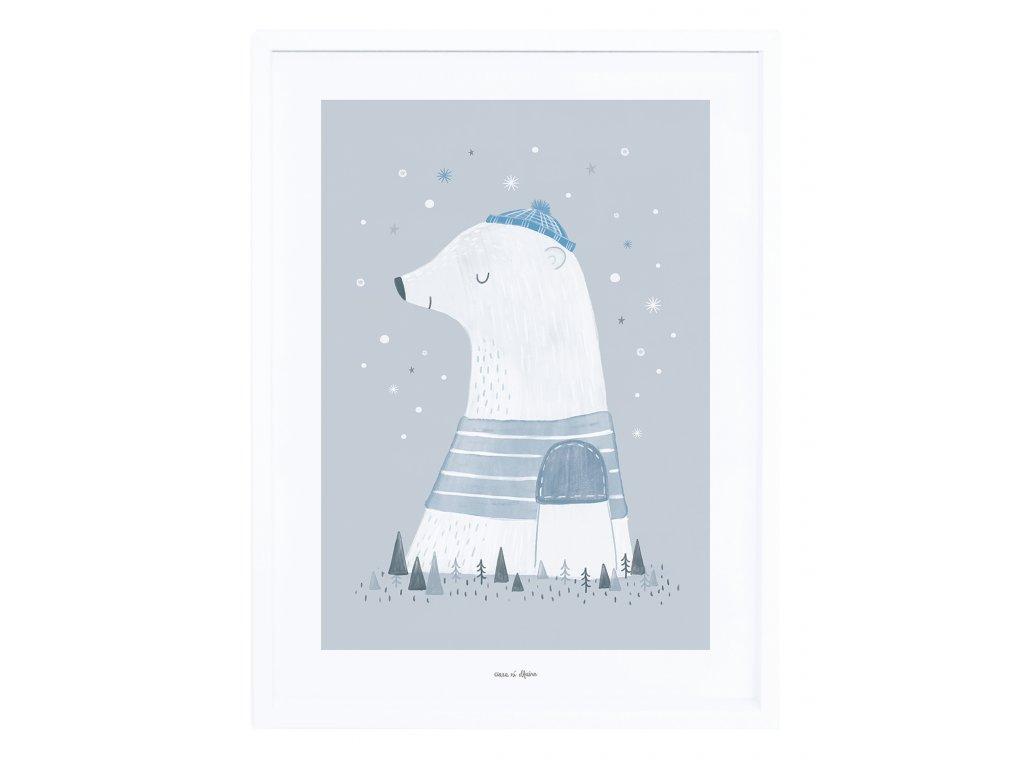 Zarámovaný plakát LILIPINSO Olaf the polar bear
