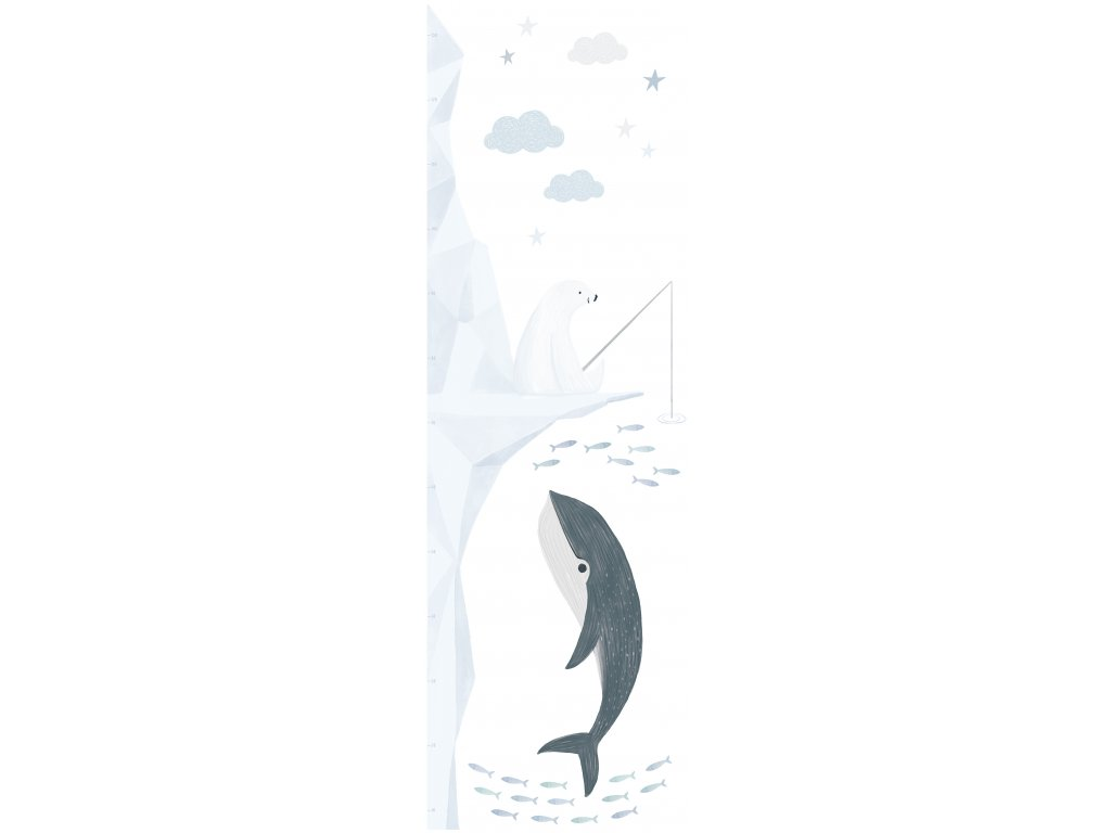 Samolepka rostoucí metr LILIPINSO Fishing polar bear