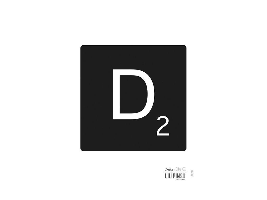 """Samolepka LILIPINSO písmenko """"D"""""""