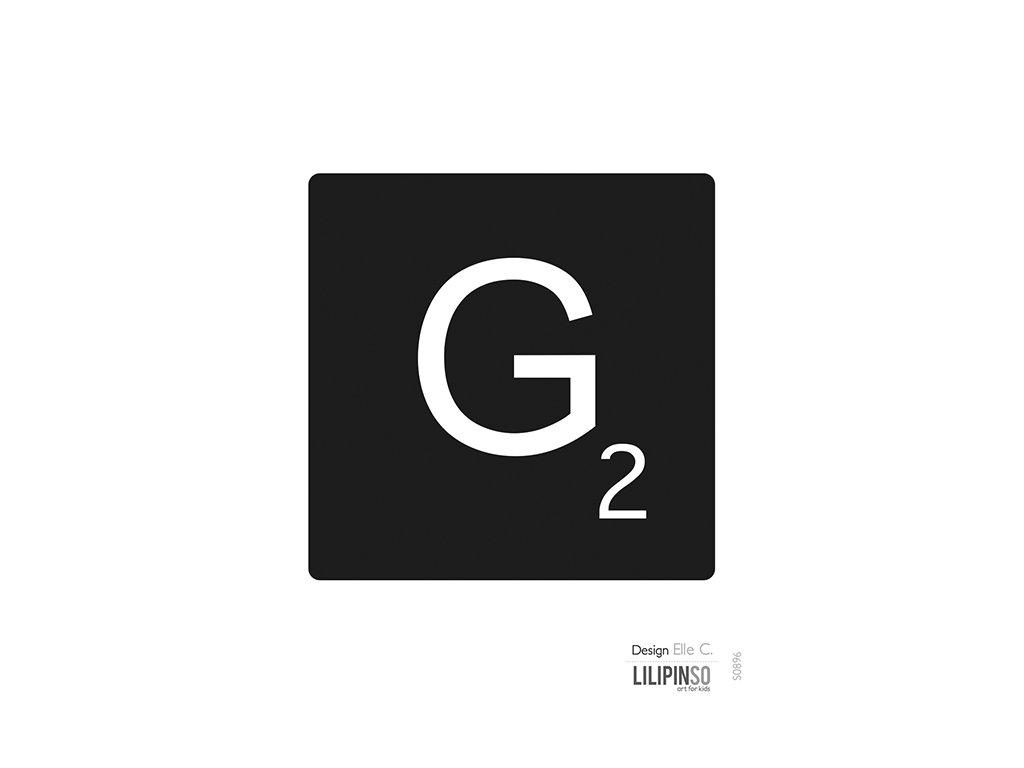 """Samolepka LILIPINSO písmenko """"G"""""""