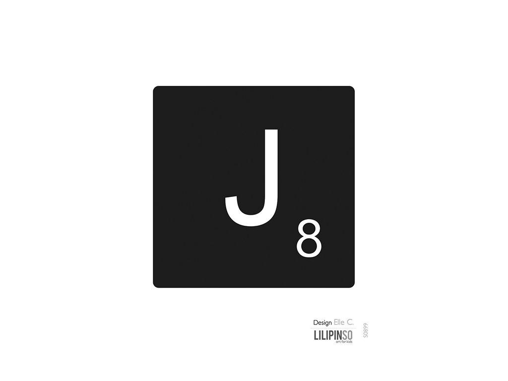 """Samolepka LILIPINSO písmenko """"J"""""""