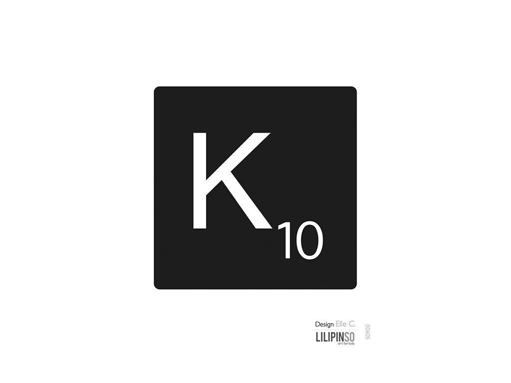 """Samolepka LILIPINSO písmenko """"K"""""""