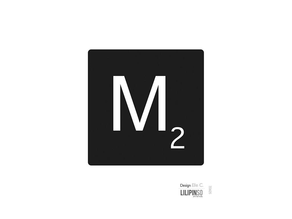 """Samolepka LILIPINSO písmenko """"M"""""""