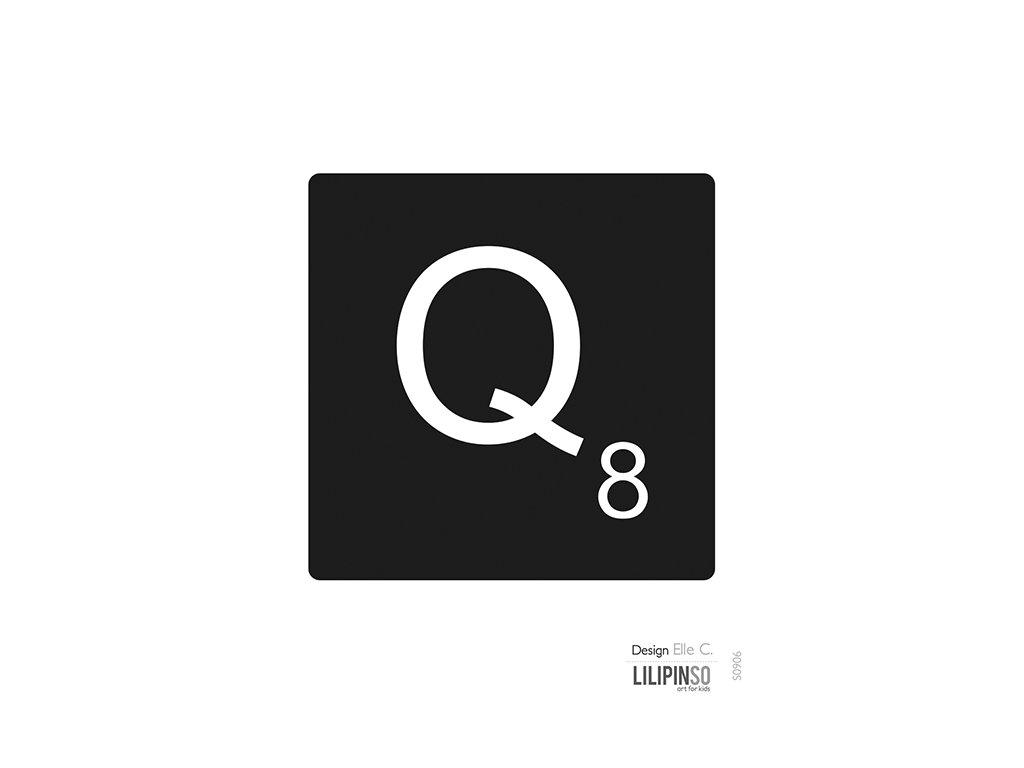 "Samolepka LILIPINSO písmenko ""Q"""