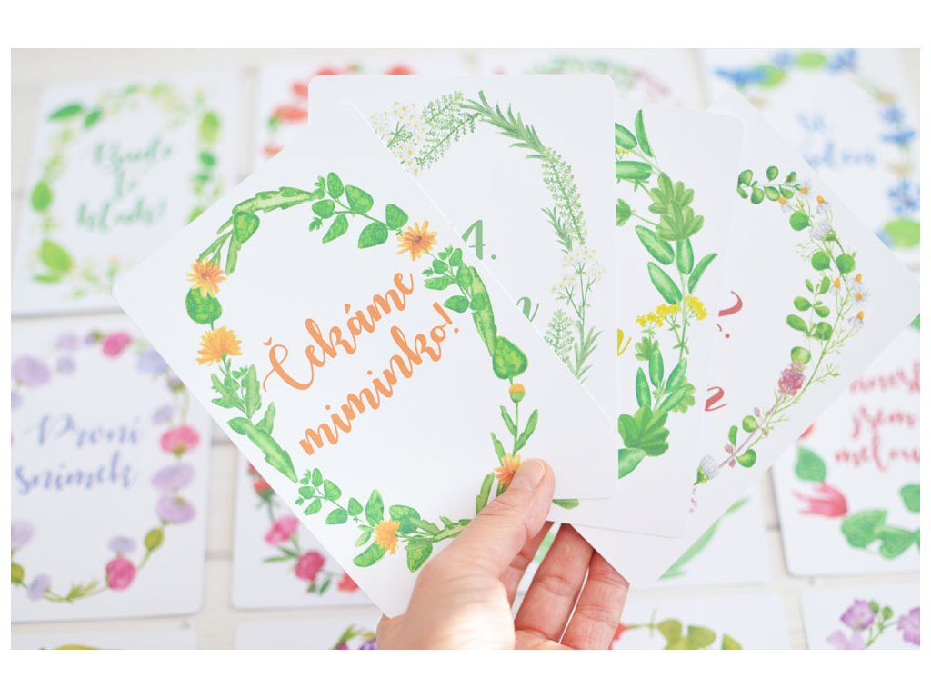 Milníkové kartičky By Myyna pro těhotné