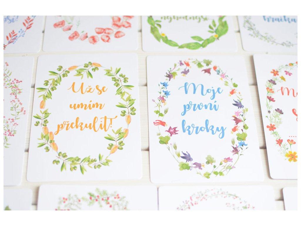 Milníkové kartičky By Myyna pro miminka pokračování