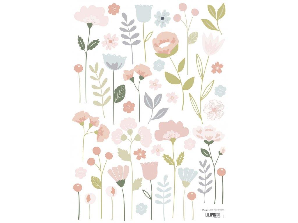 Samolepka LILIPINSO Flowers stems A3