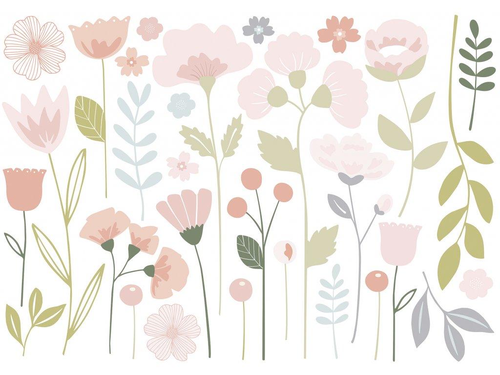 Samolepka LILIPINSO Floral stems XL