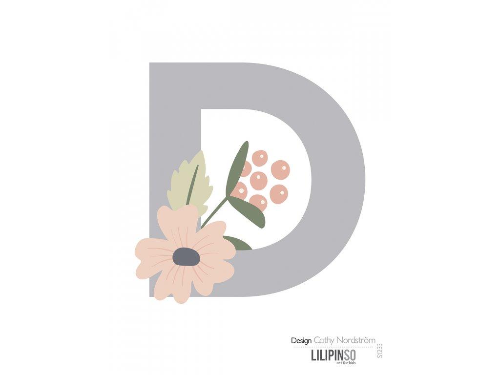 "Samolepka LILIPINSO písmenko Bloom ""D"""