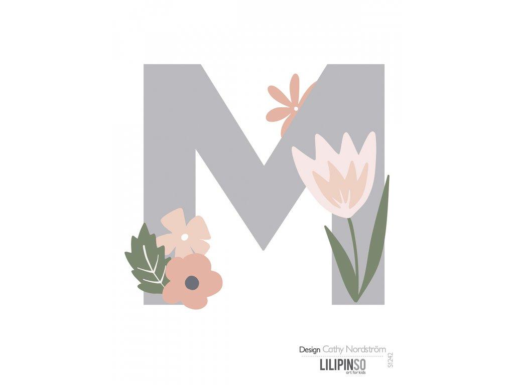 "Samolepka LILIPINSO písmenko Bloom ""M"""
