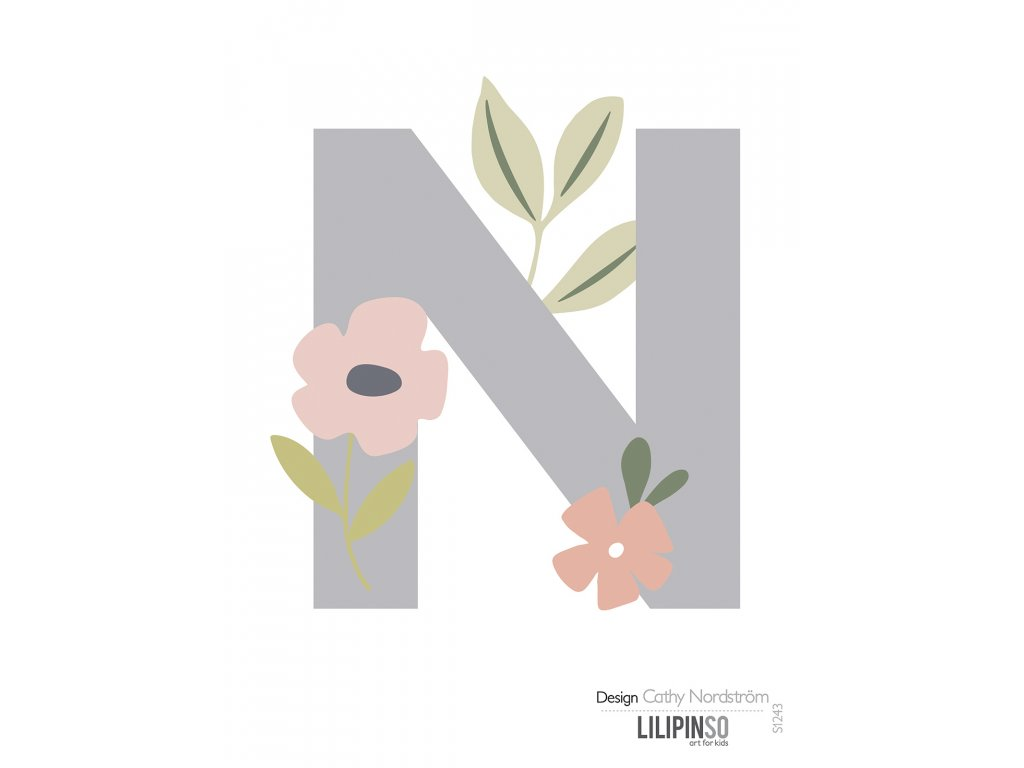 "Samolepka LILIPINSO písmenko Bloom ""N"""