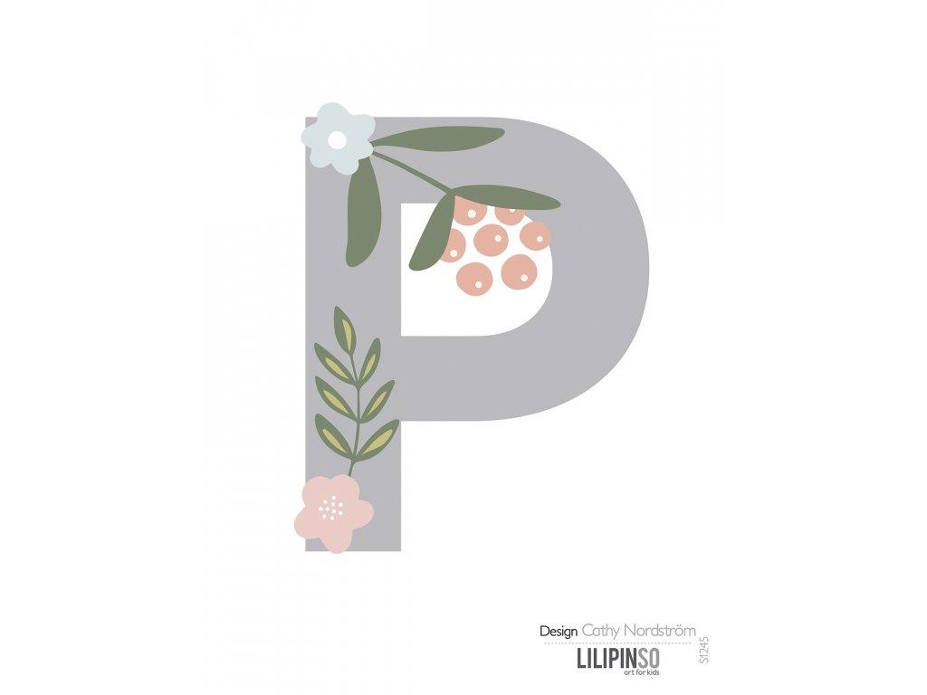 "Samolepka LILIPINSO písmenko Bloom ""P"""