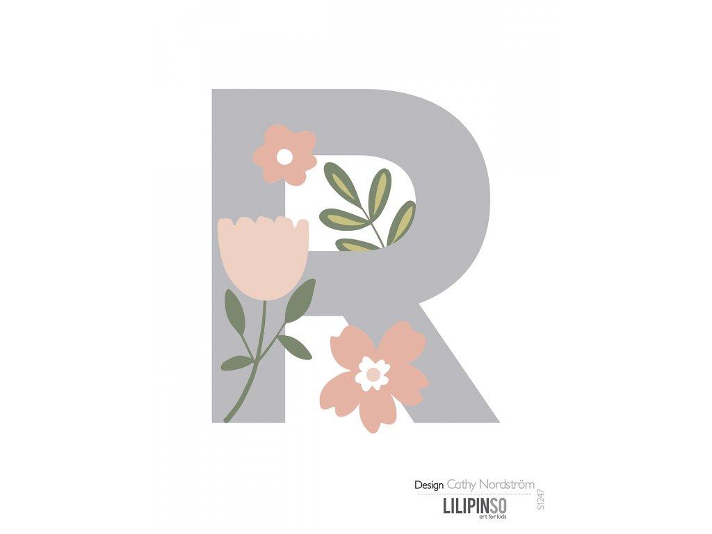 "Samolepka LILIPINSO písmenko Bloom ""R"""