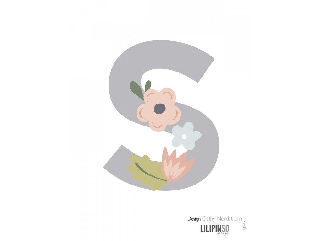 "Samolepka LILIPINSO písmenko Bloom ""S"""