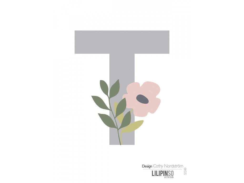 "Samolepka LILIPINSO písmenko Bloom ""T"""