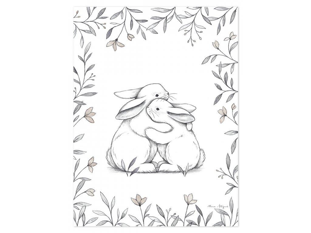 Plakát LILIPINSO Bunny loves you