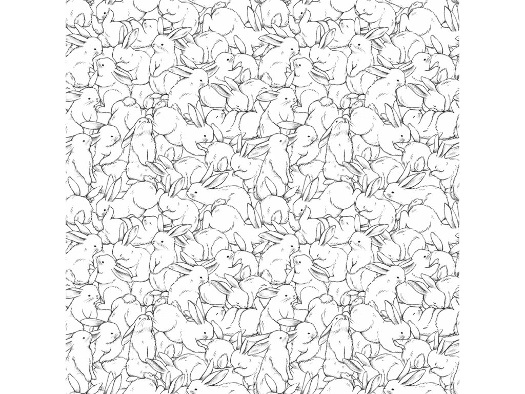 Tapeta LILIPINSO Hundred bunnies 50 cm x 10 m