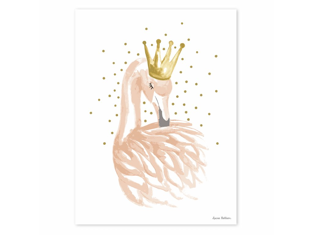 Plakát LILIPINSO Flamingo and stars