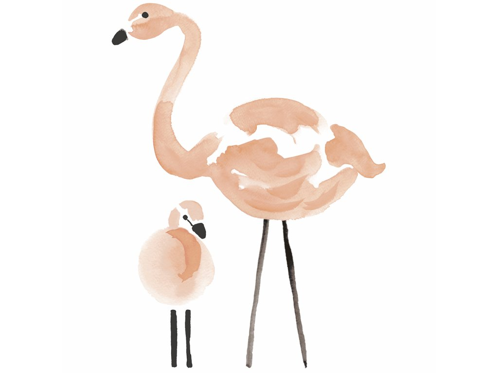 Samolepka LILIPINSO Pink Flamingos XL
