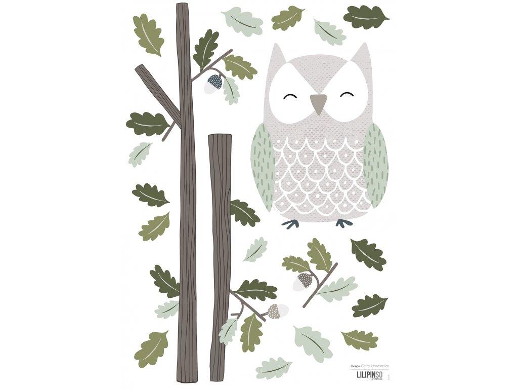Samolepka LILIPINSO Owl A3