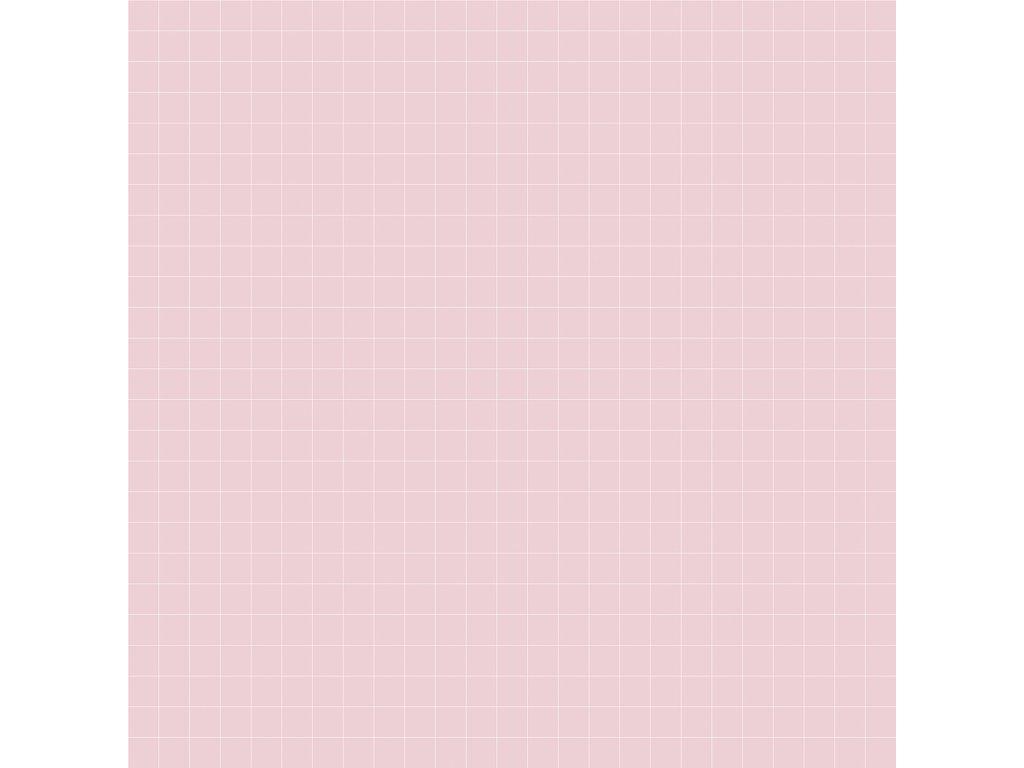 Tapeta LILIPINSO Grid white on pink 50 cm x 10 m