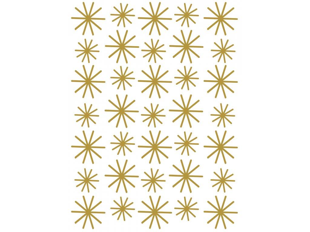 Samolepka LILIPINSO Gold flakes