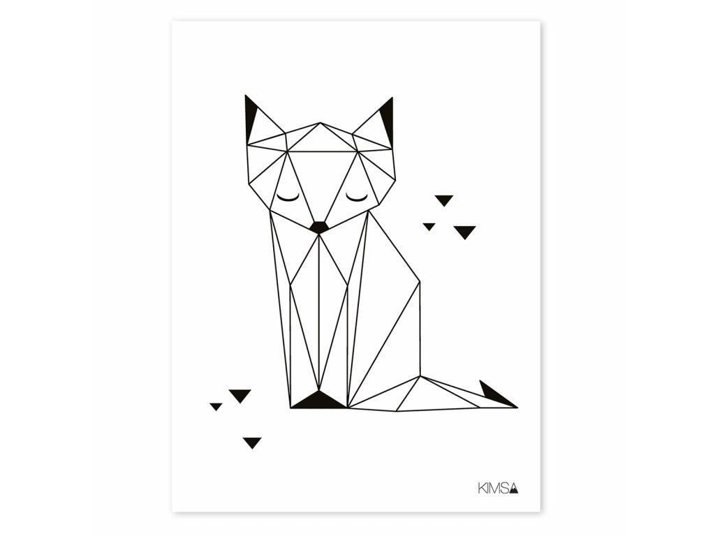 Plakat Lilipinso Origami fox