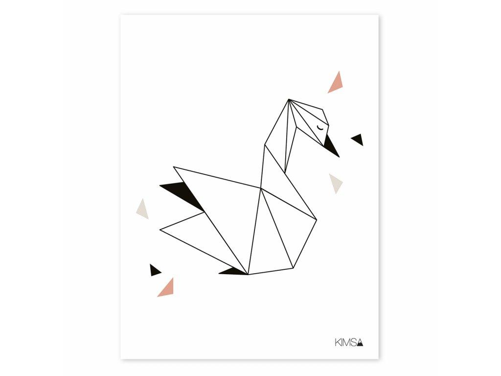 Plakat Lilipinso Origami swan