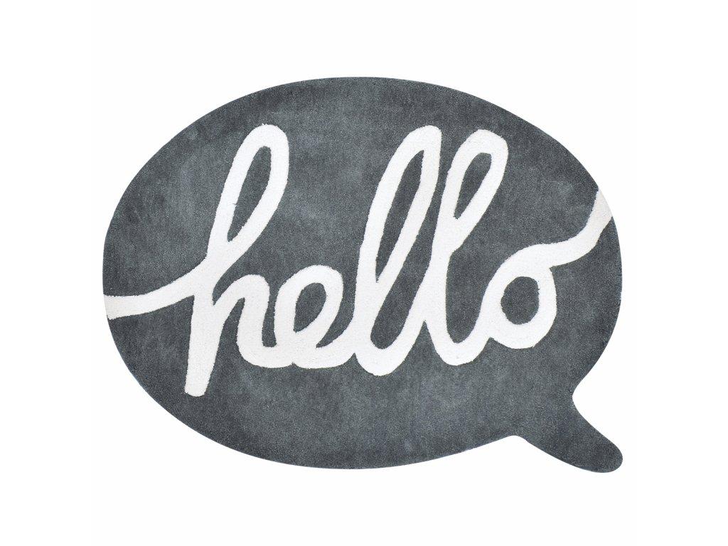 Dětský koberec LILIPINSO Bubble antracite hello